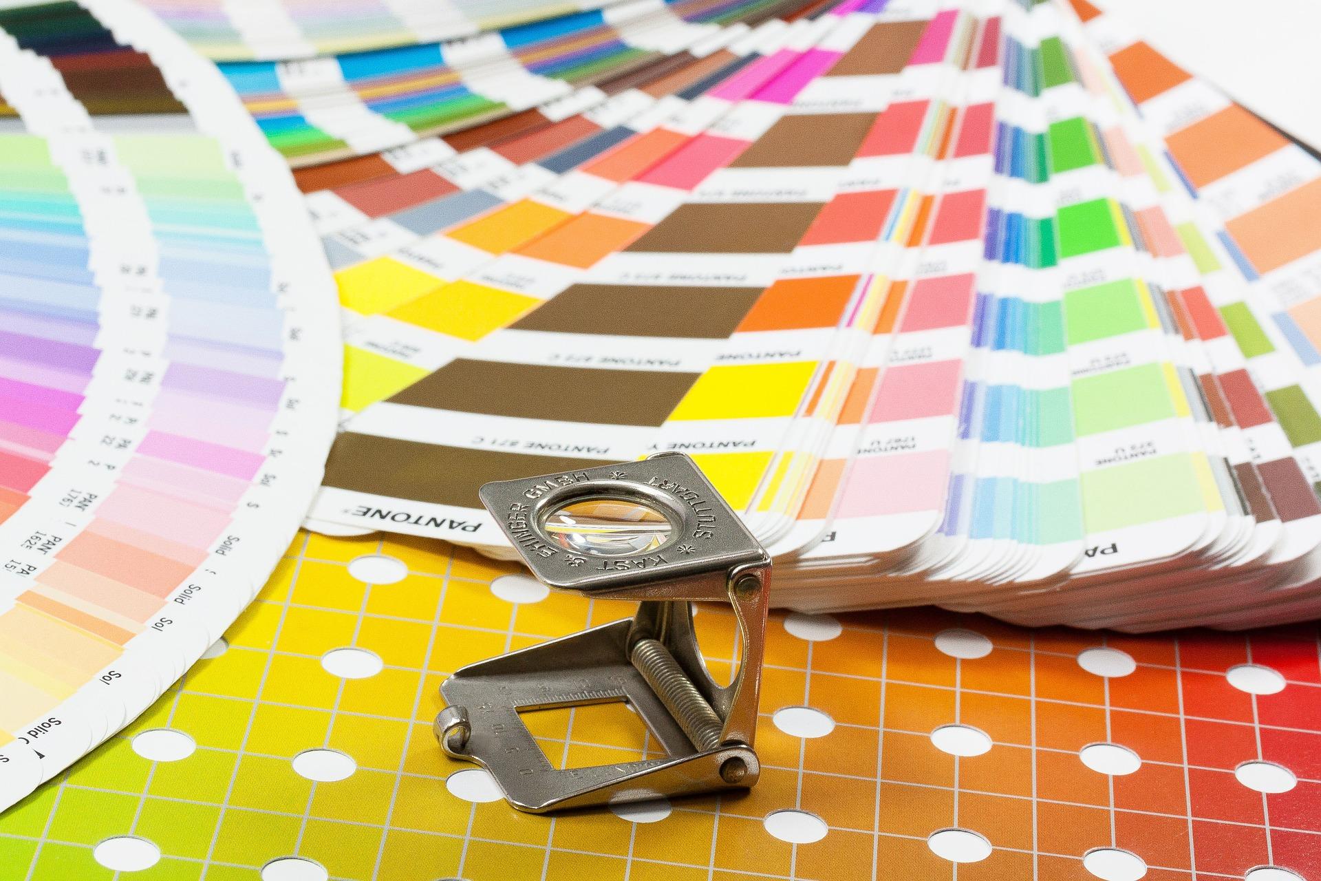 wzorniki kolorów używane przez drukarnię Wrocław